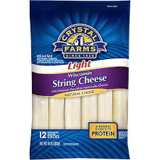 crystal farms light string cheese