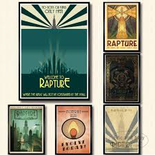 Bioshock Rapture Video Game Retro Kids Gift Vintage Canvas Painting Posters And Prints Wall Art Pictures For Living Room Painting Calligraphy Aliexpress