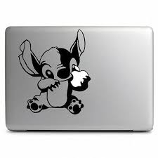Disney Stitch Eat Apple For Apple Macbook Air
