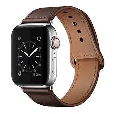 genuine leather loop 38 42mm watchband