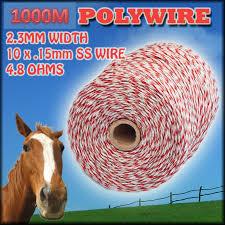 Electric Fence Kit Solar Energiser 40 Poly Posts 1000m Wire Handle Earth Rod Etc Jono Johno