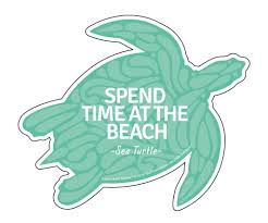 Advice From A Sea Turtle Die Cut Sticker Large Your True Nature Inc