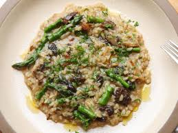 Mushroom and Asparagus Risotto Recipe ...
