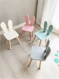 Hot Nordic Style Wood Desk Chair For Kids Cute Children Furniture High Quality Beech Wood Kids Room Furniture Rabbit Ear Design Children Furniture Sets Aliexpress