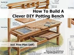 pdf diy build cedar potting bench home