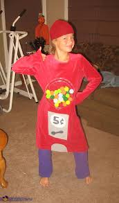 homemade bubble gum machine costume