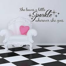 She Leaves A Little Sparkle Wherever She Goes Girls Quote Wall Decal Words 48 Ebay