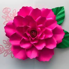 silhouette paper flower template