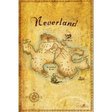 Pin By Elizabeth On My Polyvore Finds Neverland Map Map Wall Art Map