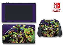 Teenage Mutant Ninja Turtles Tmnt Leonardo Leo Michaelangelo Donatello Raphael Cartoon Video Game Vinyl Decal Skin Sticker Cover For Nintendo Switch Console System Wantitall