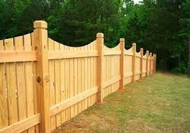 Scalloped Wood Fence Semi Privacy Fence Wooden Fence Backyard Fences Fence Design