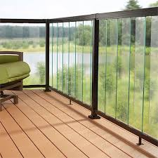 Find Peak Balustrade 1 8m Clear Sectional Glass Kit At Bunnings Warehouse Visit Your Local Sto Balcony Railing Design Balcony Grill Design Deck Railing Design