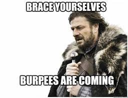 Image result for crossfit burpee meme