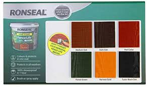 Ronseal Rslocflmo5l One Coat Fence Life Medium Oak 5 Litre Amazon Co Uk Diy Tools