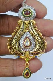 ethnic 22k gold pendant necklace