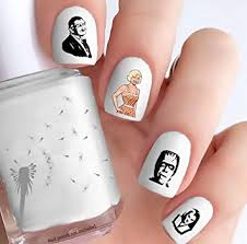 Amazon Com The Munsters Clear Vinyl Cut Peel Stick Nail Decals Beauty