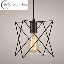 decasa black pendant light iron modern