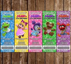 Muppet Babies Disney Jr Birthday Party Ticket Invitations