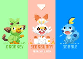 Pokemon Sword & Shield Starters in Pixels 4k Ultra HD Wallpaper ...