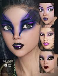 dark fantasy makeup for genesis 3