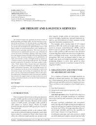 pdf air freight and logistics services