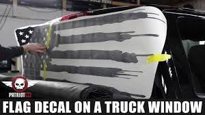 How To Install American Flag Truck Back Window Decal Sticker Patriot99 Com Youtube