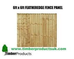 6 X 6 Feather Edge Panels Heavy Duty Garden Fence Panel 6x6 Ebay