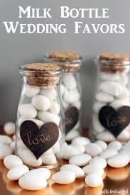 diy milk bottle wedding favors crafts