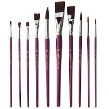 watercolor paint brushes 10 piece set