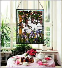 vintage tiffany style stained glass art