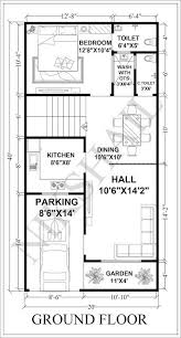 20x40 house plan car parking with 3d