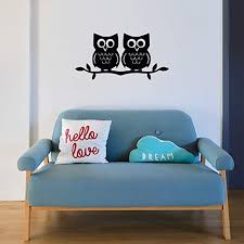 Amazon Com Two Owls On A Branch Vinyl Wall Decal Nursery Owl Kitchen Dining