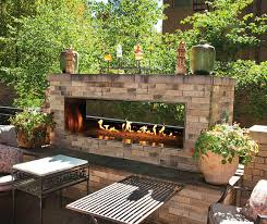 fire pit under a covered patio