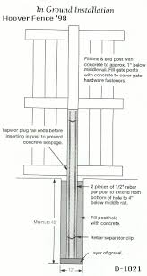 Vinyl Fence Hoover Fence How To Set A Vinyl Fence Post