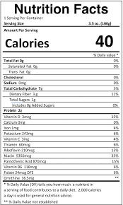 oyster mushroom nutritional value per 100g