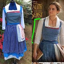 blue peasant village dress