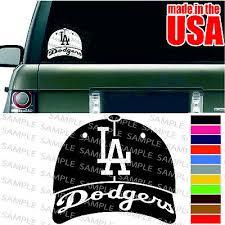 Los Angeles La Dodgers Mlb Baseball Cap Cool Car Decal Window Bumper Sticker Ebay