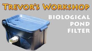 homemade biological pond filter you