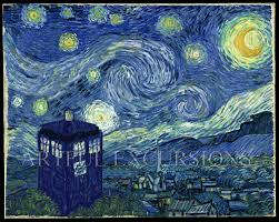 van gogh exploding tardis wallpaper on
