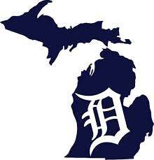Detroit Tigers Old English D State Of Michigan Vinyl Cornhole Decals Set Of 2 Unbranded Michigan Decal Old English D Detroit Tigers