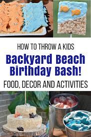 kids backyard beach theme party