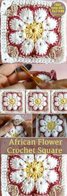 african flower square crochet tutorial