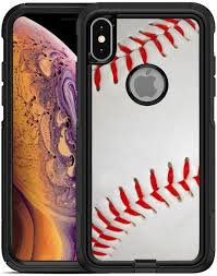 Amazon Com Teleskins Protective Designer Vinyl Skin Decals Stickers Compatible With Otterbox Commuter Iphone Xs Max Case Baseball Design Patterns Only Skins And Not Case