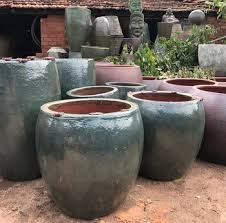 large glazed ceramic garden pots