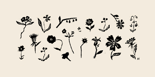 Woodcut Floral By Emily Isabella Artfully Walls