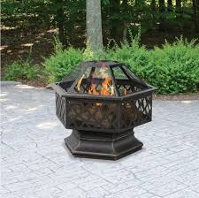fire pit outdoor wood burning fireplace