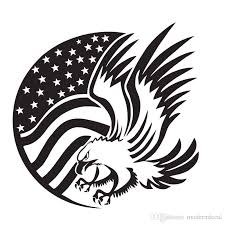 American Flag And Eagle Wall Stickers Animals Hollow Out Adhesive Sticker Wall Decals Home Decor Wall Stickers Quotes Wall Stickers Removable From Moderndecal 10 01 Dhgate Com