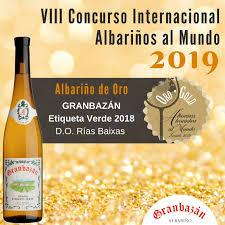 GRANBAZÁN Etiqueta Verde 2018 premiado en Albariños al Mundo 2019