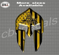 Don T Tread On Me American Flag Spartan Helmet Decals With Etsy