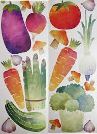 Amazon Com Wall Decal Vegetable Jumbo Sticker Home Decor Home Kitchen
